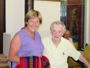 Kit Boag with Raffle Winner Lynda Bassett