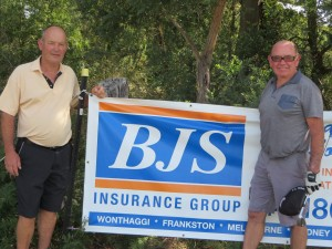 2015 BJS Insurance Top Gun winner, Peter Brownlie (Left) with runner up, Chris Leaver
