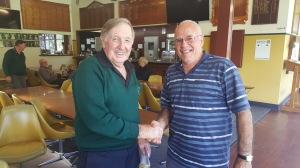 Sponsor & Life member Co Sperling with todays winner Fred de Bondt